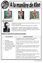 Paul Klee – Portraits – Ce1 – Ce2 – Cm1 – Cm2 – Arts visuels – Cycle 3