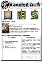 A la manière de Vasarély – Ce1 – Ce2 – Cm1 – Cm2 – Arts visuels – Cycle 3