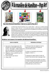 A la manière de  Hamilton – Pop Art – Ce1 – Ce2 – Cm1 – Cm2 – Arts visuels – Cycle 3
