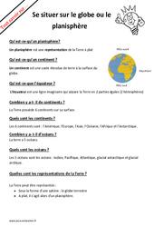 Comment se situer sur le globe ou le planisphère?