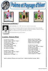Poème et paysage d'hiver - Collage - Art visuel - Cycle 2 - Cycle 3