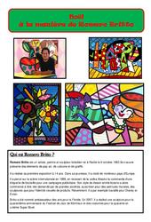 Noël à la manière de Britto - Arts visuel - Cycle 2 - Cycle 3