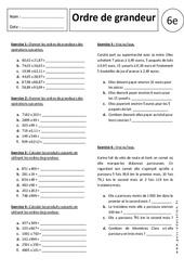 Ordre de Grandeur – Multiplication – 6ème – Exercices corrigés