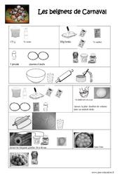Recette beignets de carnaval - Lecture - Texte prescriptif - Cycle 2 - Cycle 3