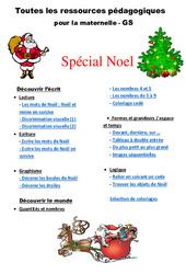 Noël – Dossier – Grande section – GS – Maternelle
