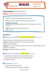 Consignes de la classe – Ce2 – Anglais – Famille vadrouille