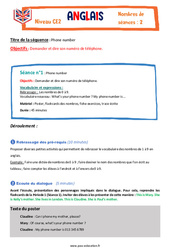 Phone number - Ce2 - Anglais - Famille Vadrouille