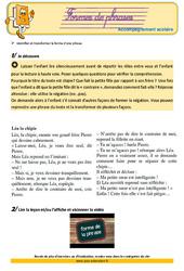 Formes de phrases – Cm1 – Soutien scolaire – Aide aux devoirs