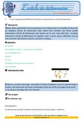 L'article de dictionnaire - Cm1  -Soutien scolaire - Aide aux devoirs
