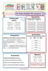 Cahiers de vacances à imprimer – Ce2 vers le Cm1 – Semaine 2 – Juillet