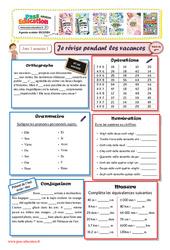 Cahiers de vacances à imprimer - Cm2 vers la 6ème - Semaine 1 - Juillet
