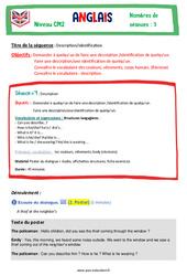 Description – identification – Cm2 – Anglais – Famille Vadrouille