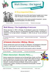 Walt Disney – Cm1 – Anglais – Famille Vadrouille