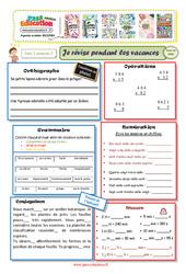 Cahiers de vacances à imprimer - Cm1 vers le Cm2 - Semaine 2 - Juillet