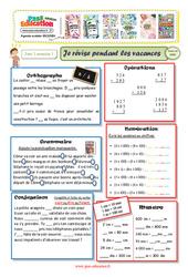 Cahiers de vacances à imprimer - Cm1 vers le Cm2 - Semaine 1 - Juillet