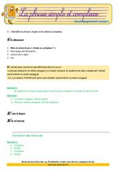 Les phrases simples et complexes – Cm2 – Soutien scolaire – Aide aux devoirs