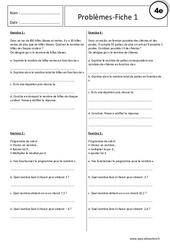 Equations – Inéquations – 4ème – Problèmes - Exercices corrigés