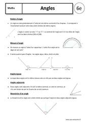 Angles - Cours - 6ème