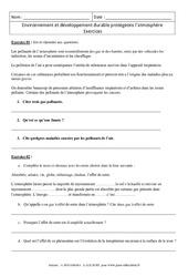 Environnement et développement durable protégeons l'atmosphère – Exercices corrigés – 4ème – Physique – Chimie – Collège