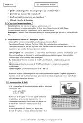 Composition de l'air – Cours – 4ème – Physique – Chimie – Collège