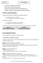 Combustions – Cours – 4ème – Physique – Chimie – Collège