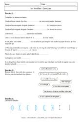 Lentilles – Exercices corrigés – 4ème – Physique – Chimie – Collège
