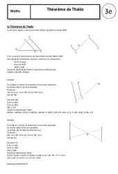 Théorème de Thalès – 3ème – Cours – Géométrie – Collège