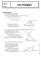 Triangles - Cours - 5ème - Géométrie