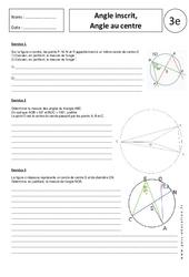 Angle inscrit - Angle au centre – Exercices corrigés – 3ème - Géométrie - Brevet des collèges