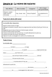 Verbe à l'impératif- Compléments du nom – Dictée préparée – A trous – Cm2