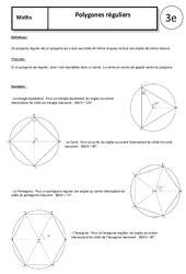 Polygones réguliers – Cours – 3ème – Géométrie