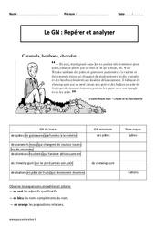 Groupe Nominal - Repérer et analyser - Cm2 – Exercices corrigés – Grammaire – Cycle 3