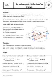 Agrandissement – Réduction d'un triangle – Cours – 3ème – Géométrie