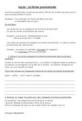 Forme pronominale - Cm2 – Leçon - Exercices corrigés – Conjugaison – Cycle 3