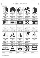Fractions – Connaissance – Exercices corrigés – Cm1 – Cm2 - Numération – Cycle 3