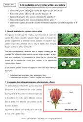 Installation des végétaux dans un milieu – 6ème – Cours – SVT