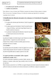 Production alimentaire par l'élevage ou la culture – 6ème – Cours – SVT