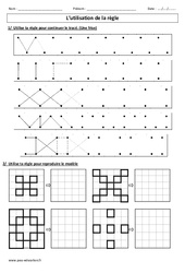 Utilisation de la règle – Ce1 – Exercices – Géométrie – Cycle 2