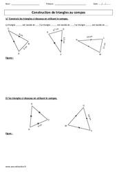 Construction de triangles - Isocèles et équilatéraux au compas – Cm1 – Cm2 – Exercices