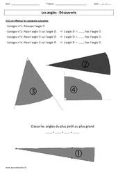 Angles – Activité de découverte – Exercices – Ce2 – Géométrie – Cycle 3