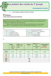 Le présent des verbes du 3e groupe – Cm2 – Soutien scolaire– Aide aux devoirs