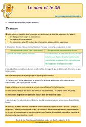 Le nom et le groupe nominal – Cm2 – Soutien scolaire – Aide aux devoirs