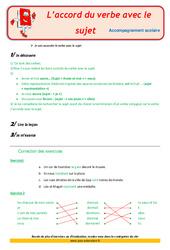 L'accord du verbe avec le sujet - Cm2 - Soutien scolaire - Aide aux devoirs