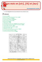 Les mots en [oir], [ill] et [eur] - Cm2 - Soutien scolaire - Aide aux devoirs