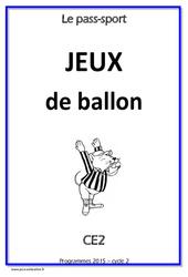 Jeux de ballon - Ce2 - Cycle complet EPS