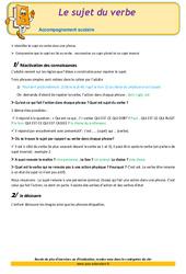 Le sujet du verbe – CM1 – Soutien scolaire – Aide aux devoirs