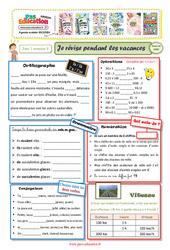 Cahiers de vacances à imprimer – CM1 vers le CM2 – Semaine 8 – Août