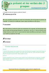 Le présent et les verbes des 3 groupes - CM1 - Soutien scolaire - Aide aux devoirs