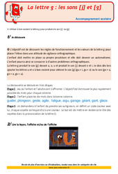 La lettre g les sons [j] et [g] – CM1 – Soutien scolaire – Aide aux devoirs