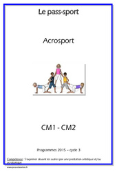 Acrosport – Cm1 – Cm2 – Cycle complet EPS
